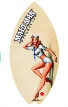 Sailor Girl, Malo Man Skimboards, Kelowna, BC  handcrafted   www.malomanskimboards.com