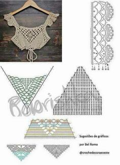 Pin by bas on βελονκι This Pin was discovered by Nhu Dê um toque decorativo e fashi With interesting construction and tons of texture,Imagini pentru tops a crochet patrones This Pin was discovered by Nar 98 Likes, 2 Comments - Super Crochet Halter Tops, Motif Bikini Crochet, Crochet Bra, Crochet Summer Tops, Crochet Blouse, Crochet Clothes, Crochet Stitches, Beau Crochet, Mode Crochet