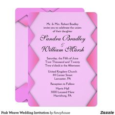 Pink Weave Wedding I