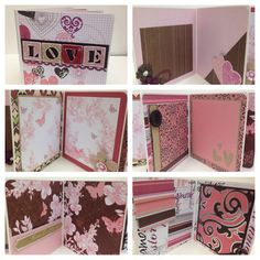 Custom order for Danielle Klamm Love scrapbook premade pages chipboard book- 5 x 5 scrapbook album  by ascrapabove on Etsy