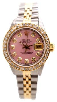 Rolex DateJust SS & 18K YG PINK CUSTOM Diamond dial & Diamond bezel Ladies Watch. Get the lowest price on Rolex DateJust SS & 18K YG PINK CUSTOM Diamond dial & Diamond bezel Ladies Watch and other fabulous designer clothing and accessories! Shop Tradesy now