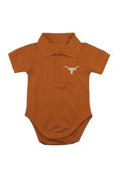 Texas Longhorns Polo Onesie - Infant Orange Polo Onesie http://www.rallyhouse.com/shop/texas-longhorns-texas-longhorns-polo-onesie-infant-orange-polo-onesie-10191144 $19.99