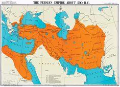 Map of the First Persian Empire (Achaemenid Empire) around 500 B.C.
