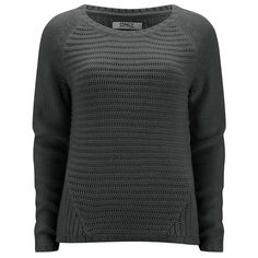 ONLY Women's Tullalu Jumper - Dark Grey ($27) ❤ liked on Polyvore featuring tops, sweaters, grey, grey sweater, dark grey top, dark gray sweater, jumpers sweaters and gray top