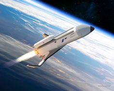 The U.S. Defense Advanced Research Projects Agency (DARPA) has picked Boeing to design and build the XS-1 military space plane, a robotic spacecraft for launching small satellites. Boeing's design, called Phantom Express, is shown here in an artist's concept.