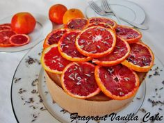 Raw Chocolate Blood Orange Caramel Cheesecake with Lavender | Fragrant Vanilla Cake