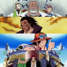 Grandfather, Father, Brother and Main inspiration of Luffy <3 #onepiece #onepiecefan #otaku #mugiwara #luffy