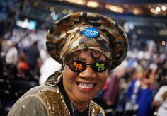 """""""Colorado delegate Julia Hicks attends the final session of the Democratic National Convention in Charlotte, on September 6, 2012"""" -- The Atlantic"""