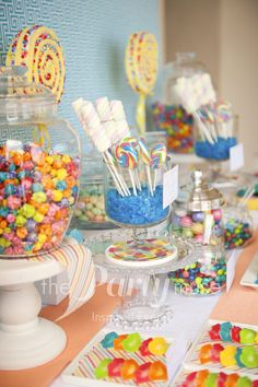 Sweets at a Candy Pool Party #candy #party