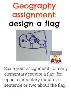 geography assignment design a flag (part of an Arkansas state study)