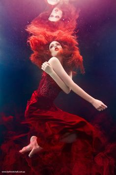 "Mineral Goddess for Beth Mitchell Photography ""Vesuvius"" From underwater series ""The Imaginarium"""