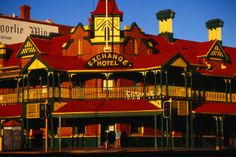 Hannan Street holds an interesting collection of architectural styles including, Edwardian, Moorish and Art Nouveau, amongst them is the Exchange Hotel - Kalgoorlie, Western Australia