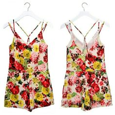 Floral romper at www.simplymefashion.com