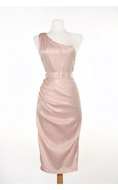 Pinup Couture- Vivien Dress in Blush | Pinup Girl Clothing
