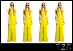 Let the sun shine!  This sunny yellow Jenni Kayne cap sleeved gown, $750, makes me long for summer!