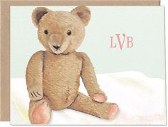 Vintage Teddy Fold Note | 15307