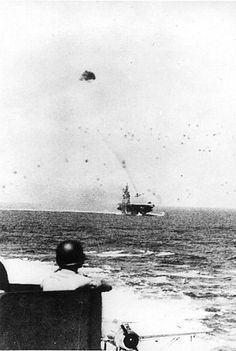 The Kamikaze Strikes of WWII in Pictures. USS Intrepid Nov. 1944, battle at Leyte Gulf