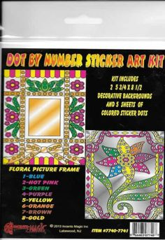 #7740-7741 Frame Dot Art. This Package includes 2- 5 3/4 x 8 1/2 Backers and corresponding dots.
