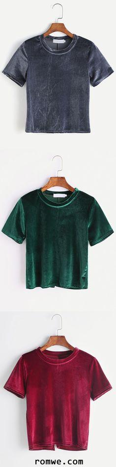 Split Back Velvet T-shirt