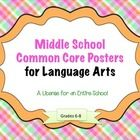 """Schools everywhere are having to use Common Core Standards. The posters contained in this mega-pack contain all of the language arts standards for grades 6-8: Reading Literature, Reading Informational Text, Writing, Speaking & Listening, and Language. All of the standards are written as """"I Can"""" statements. The posters are organized by """"backgrounds."""" ($)"""
