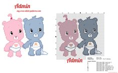 Two sweet and cute baby Care Bears