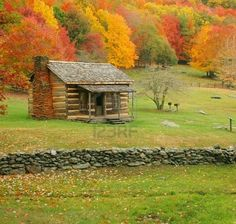Little log cabin.  One of my life dreams, having a cabin in the mountains and living where it is peaceful and quiet.