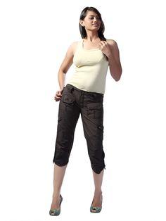 Women's Cargo Pant Cargo Pants Women, Capri Pants, Fashion, Moda, Capri Trousers, La Mode, Fasion, Fashion Models, Trendy Fashion