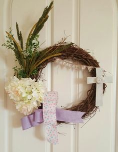 Spring grapevine wreath made by Audrey Rose