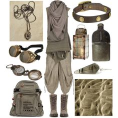 Desert Nomad by maggiehemlock on Polyvore featuring mode, AllSaints, Lumen et Umbra, Dr. Martens, Frye, Cyan Design and Dot & Bo