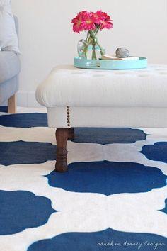 graphic rug + ottoman
