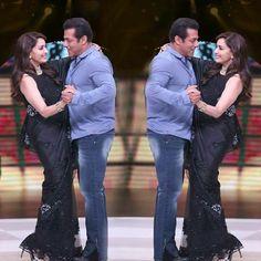 Salman khan with Madhuri d nene Ek Tha Tiger, Salman Khan Photo, Most Handsome Men, Katrina Kaif, Bollywood Actors, Famous People, Celebrities, Heart, Celebs