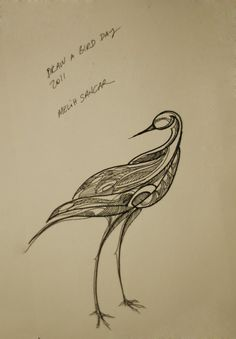 Here's my 'Draw A Bird Day 2011' drawing. Draw A Bird Day 2012 is open for submissions. You can submit your drawings to http://www.dabday.com/DAB2012_1.html