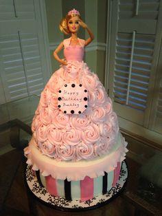 Barbie cake. This was fun to make!