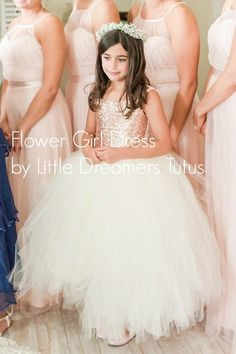 1febdb507f As Seen on THE KNOT - The Juliet Dress - Blush Sequin Bodice and Light  Ivory Tulle - Flower Girl Dre