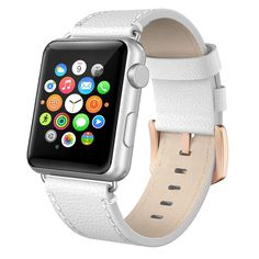 38mm Strap Band Genuine Leather Swees For Apple Watch Series 2 iWatch Acc. WHITE #Swees