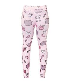 Pusheen Cat Kitty Blog Facebook Sticker Meme Licensed NWT Women's Leggings Pants