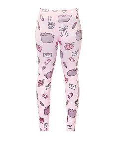 Pusheen Cat Kitty Blog Facebook Sticker Meme Licensed NWT Women's Leggings Pants