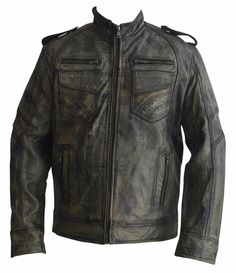 Mens motorcycle Dark Brown with tan distressed diamond leather ...