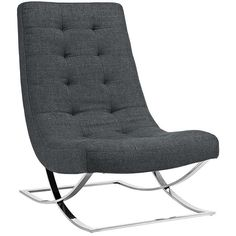 SLOPE FABRIC LOUNGE CHAIR IN GRAY - Mocofu