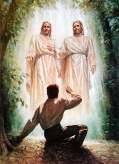 The First Vision - Joseph Smith [Mormon] in the Sacred Garden, Palmyra, NY