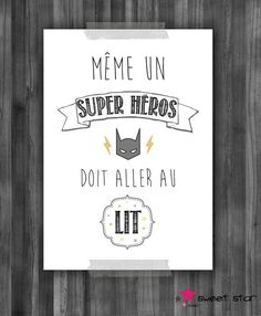 Poster for child s room quot;even a superhero quot; composition of 3 posters for child s room