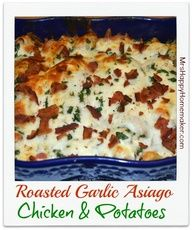 Roasted Garlic Asiago Chicken and Potatoes