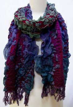 """Emmy"" Puffy Knit Scarf Wrap Stole Wrap with Fringe Blue Fuchsia Purple Green Steel Paisley,http://www.amazon.com/dp/B00A6TTPYC/ref=cm_sw_r_pi_dp_tqKPsb04XBYW5JJT"