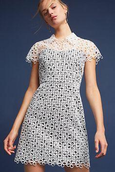 Anna Sui Daisies & Gingham Dress