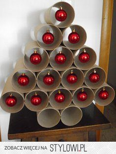 Recycle Tube Christmas Tree - For a larger tree, use a cardboard mailer tube.