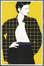 1980 Patrick Nagel Autêntico pôster de pin-up arte impressão 11x17 Xadrez Geométrico