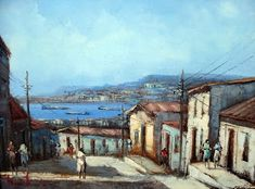 Por Amor al Arte: Valparaiso Watercolors, Ideas Para, Buildings, World, Painting, Roof Tiles, Abstract Paintings, Large Painting, Painted Porcelain