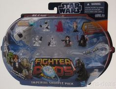 Hasbro Star Wars Fighter Pod Imperial Shuttle Pack Micro Heroes Red Series 2 NEW