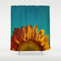 Shower Curtains featuring A Sunflower by Megs stuff...