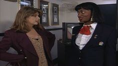 Overzealous NBC page Zoraida (Ellen Cleghorne) has a billion questions about Cheers for Kirstie Alley and gets very upset when Kirstie refuses to consider becoming a security guard and tries to get away. [Season 18, 1993]